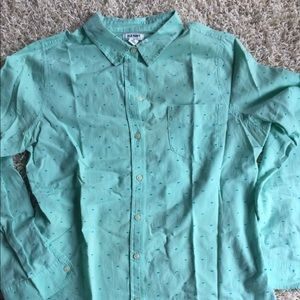 Old Navy Turquoise Blue Button Down Top